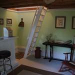 living area leading to loft