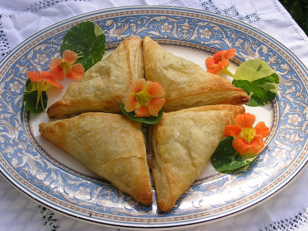 North Fork apple turnovers look good on the Minton china!