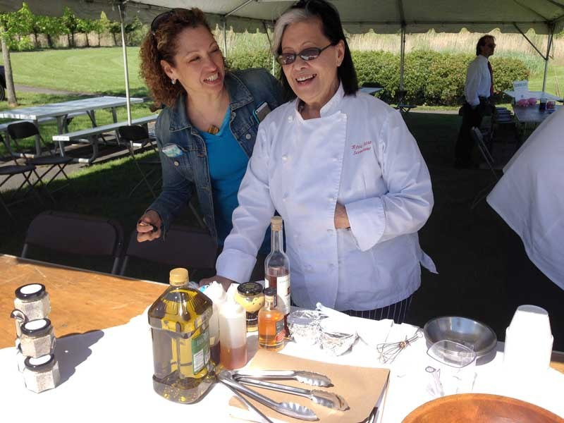 Chef Rosa Ross of Scrimshaw restaurant in Greenport, offered tastes of some of the dishes she prepares for her menu.