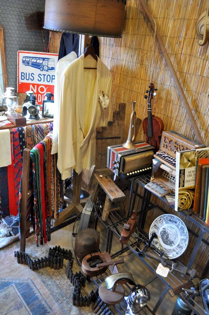 Something interesting for the men: 'Mantiques,' dinner jackets, accessories, military items, tools and the like.