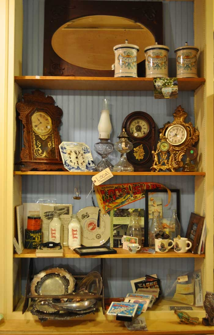 Something every North Fork antiques store should have: a local section.