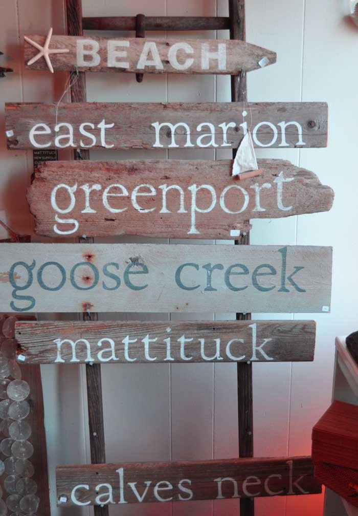 If you can't find the driftwood sign that you are looking for,  you can have them custom made.