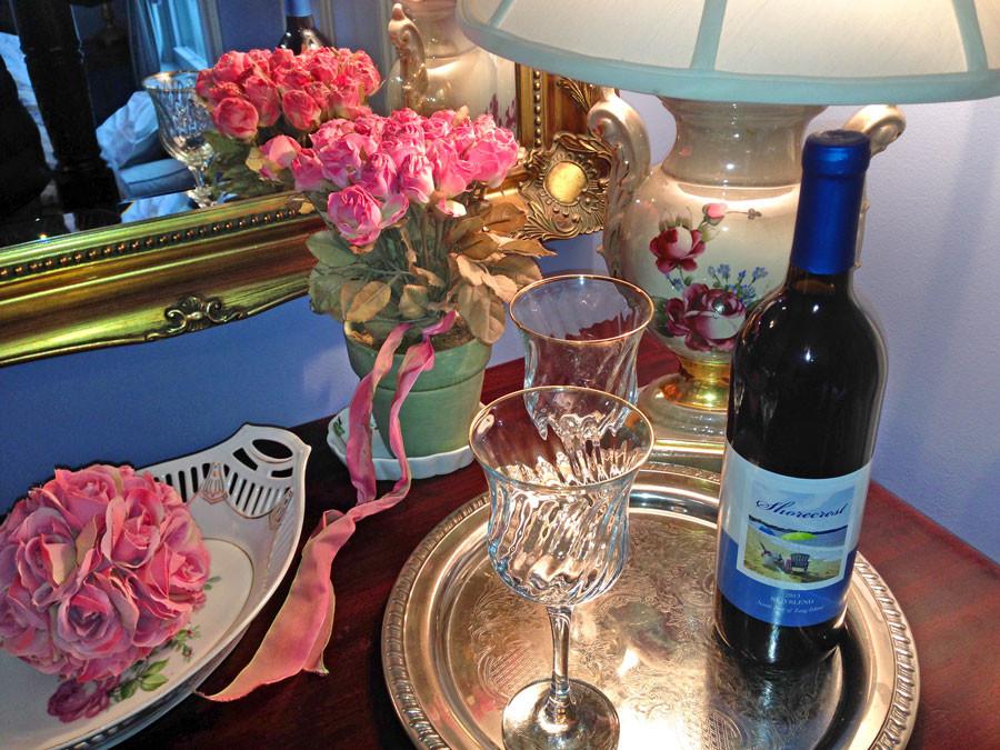 Shorecrest's private label vintage served in the Rose room