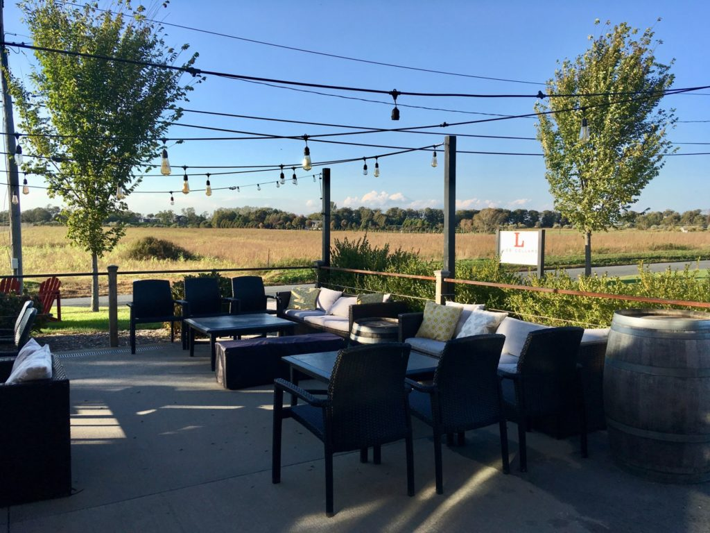 Sunday Afternoon Music setting, the deck at Lieb Cellars Oregon Road